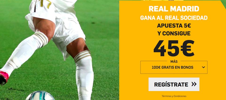 Real Madrid v Real Sociedad cuota mejorada Betfair