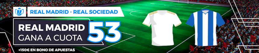 Real Madrid v Real Sociedad cuota mejorada Pastón