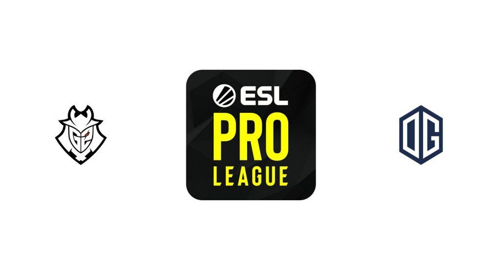 CSGO G2 eSports vs OG Previa, Predicciones y Pronóstico