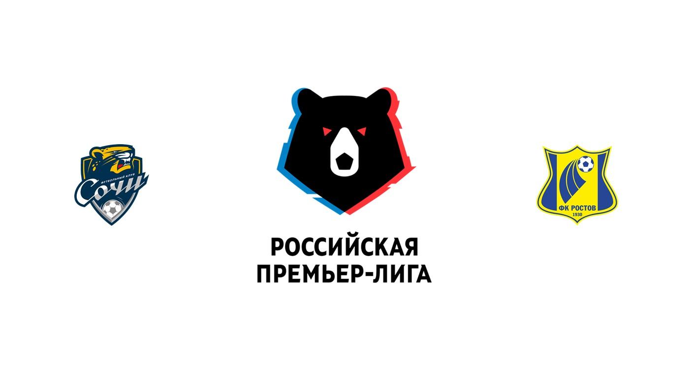 Sochi vs Rostov