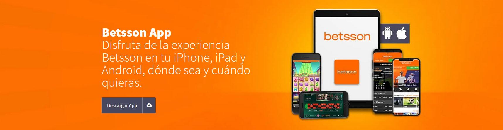 Betsson Perú app