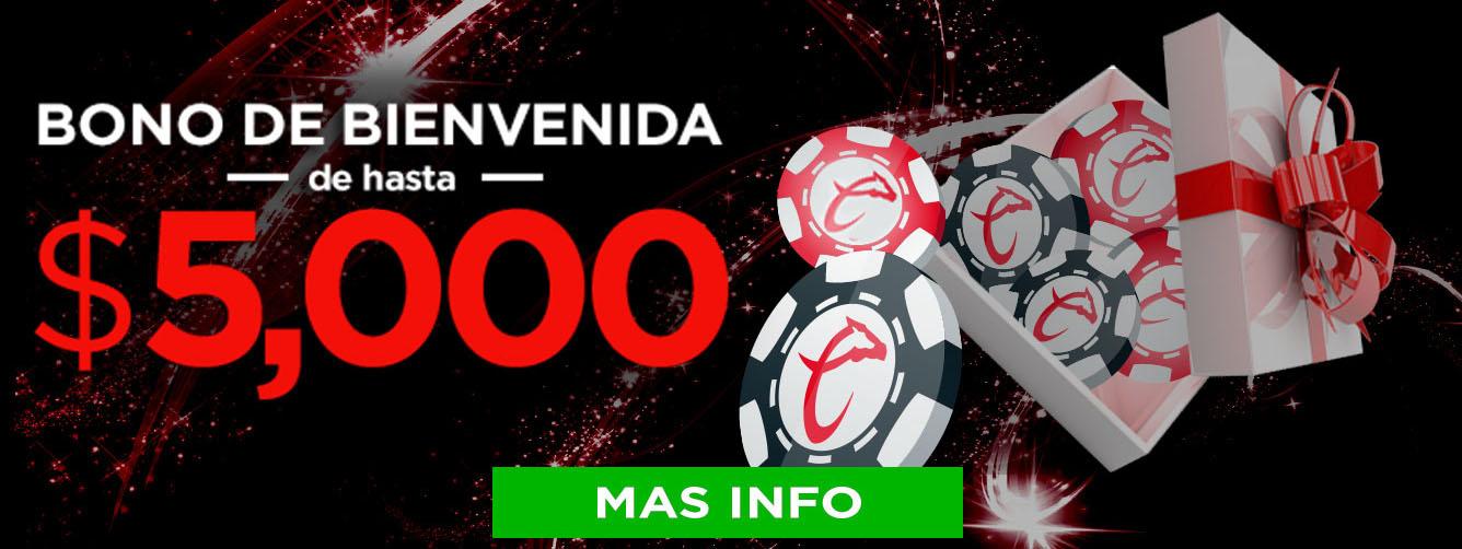 Bono Bienvenida Caliente Casino 5,000 MXN
