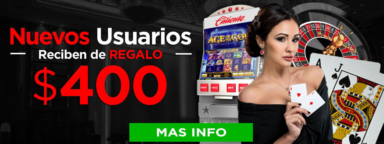 Bono Registro $400 MXN Caliente Casino