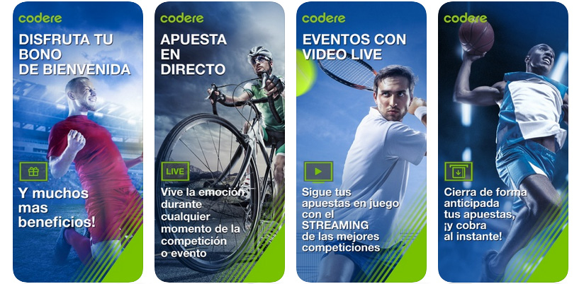 Codere Colombia iPhone