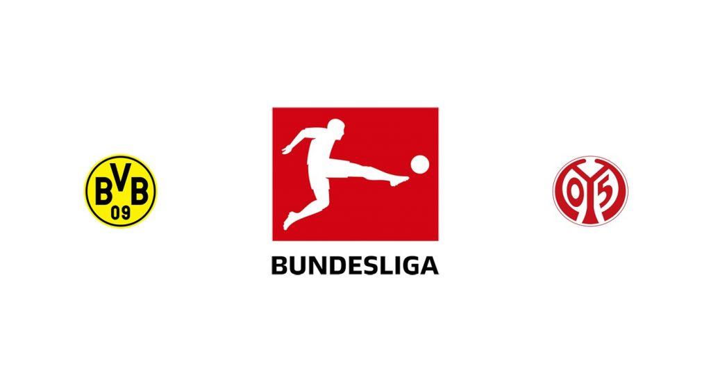 Borussia Dortmund vs Mainz 05 Previa, Predicciones y Pronóstico