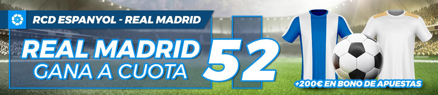 Megacuota Real Madrid gana al Espanyol