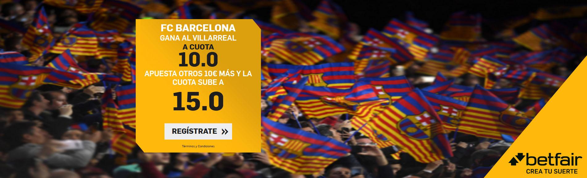 Barcelona gana al Villarreal