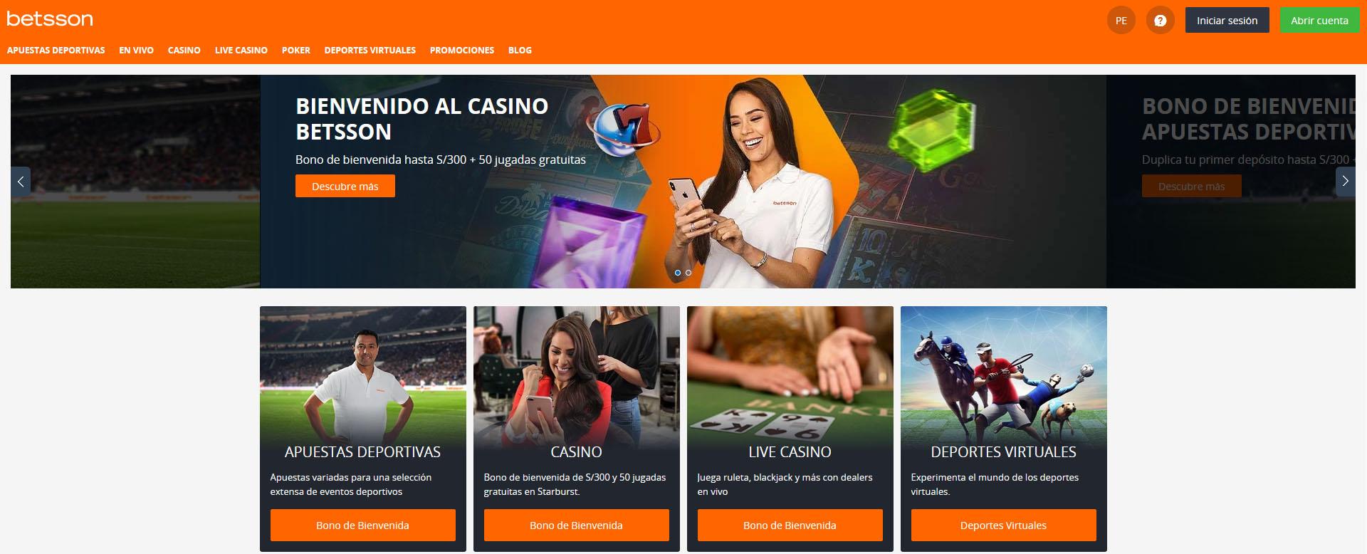 Betsson casino Perú