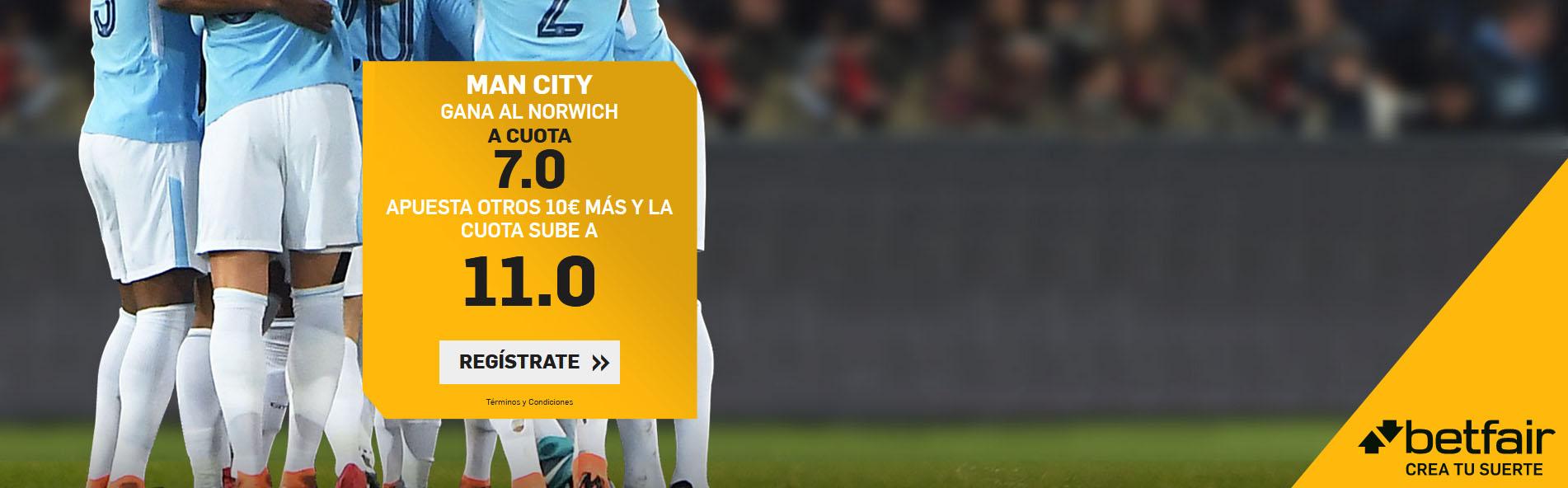 Manchester City gana al Norwich