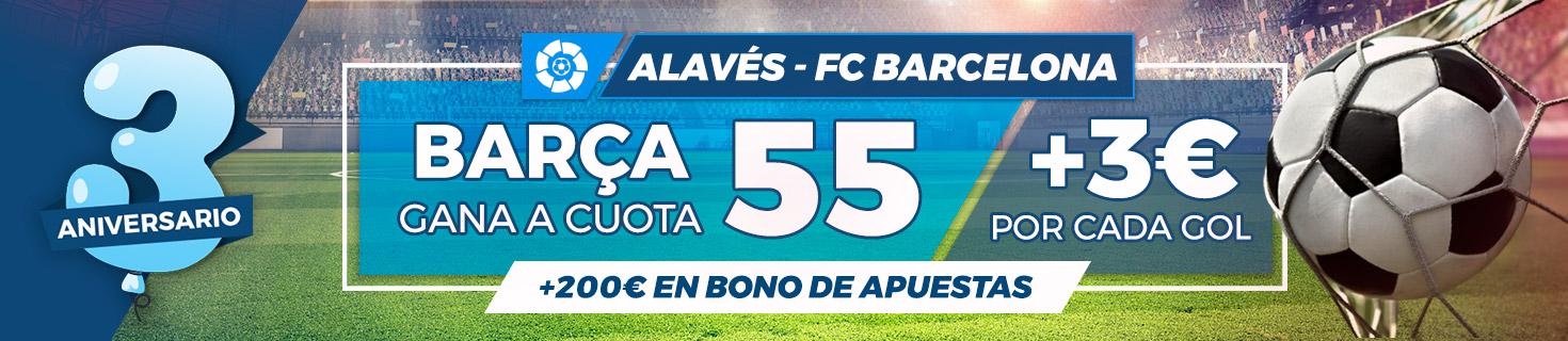 Megacuota Barcelona gana a Alavés
