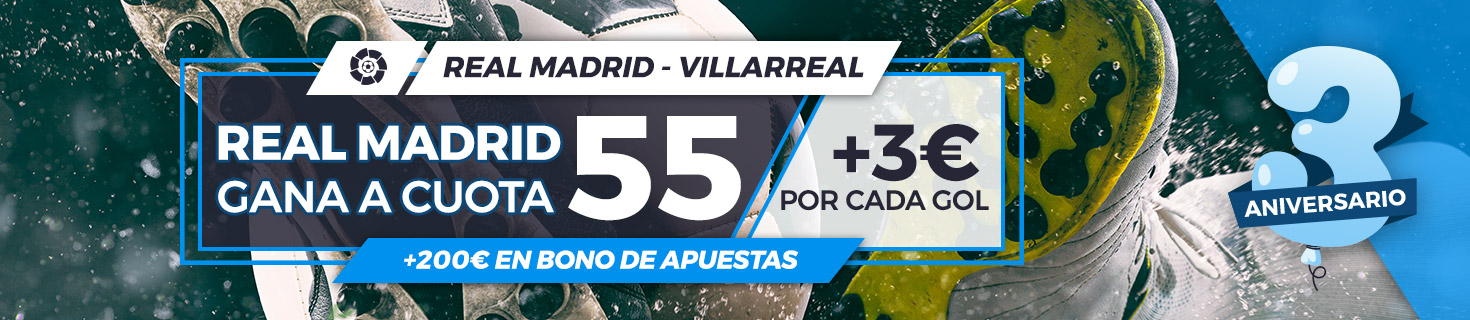 Megacuota Real Madrid gana a Villarreal