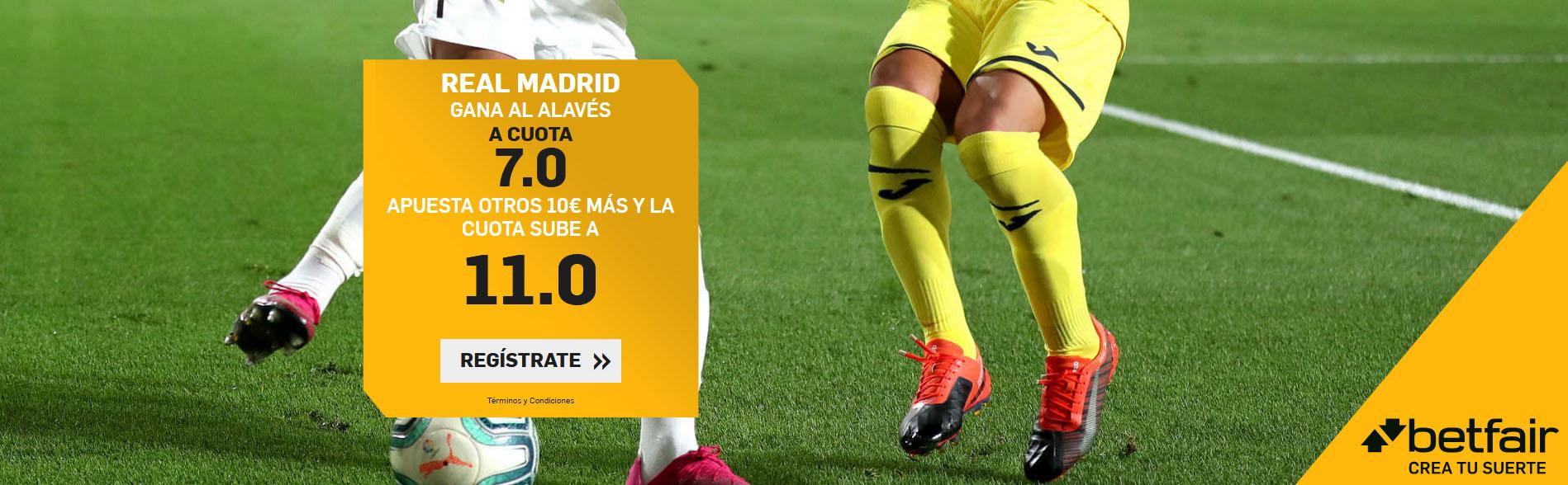 Real Madrid gana al Alavés