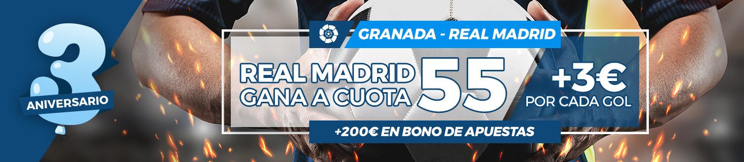 Real Madrid gana al Granada