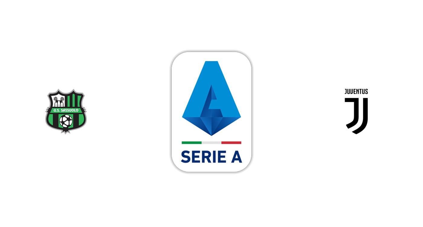 Sassuolo vs Juventus Serie A