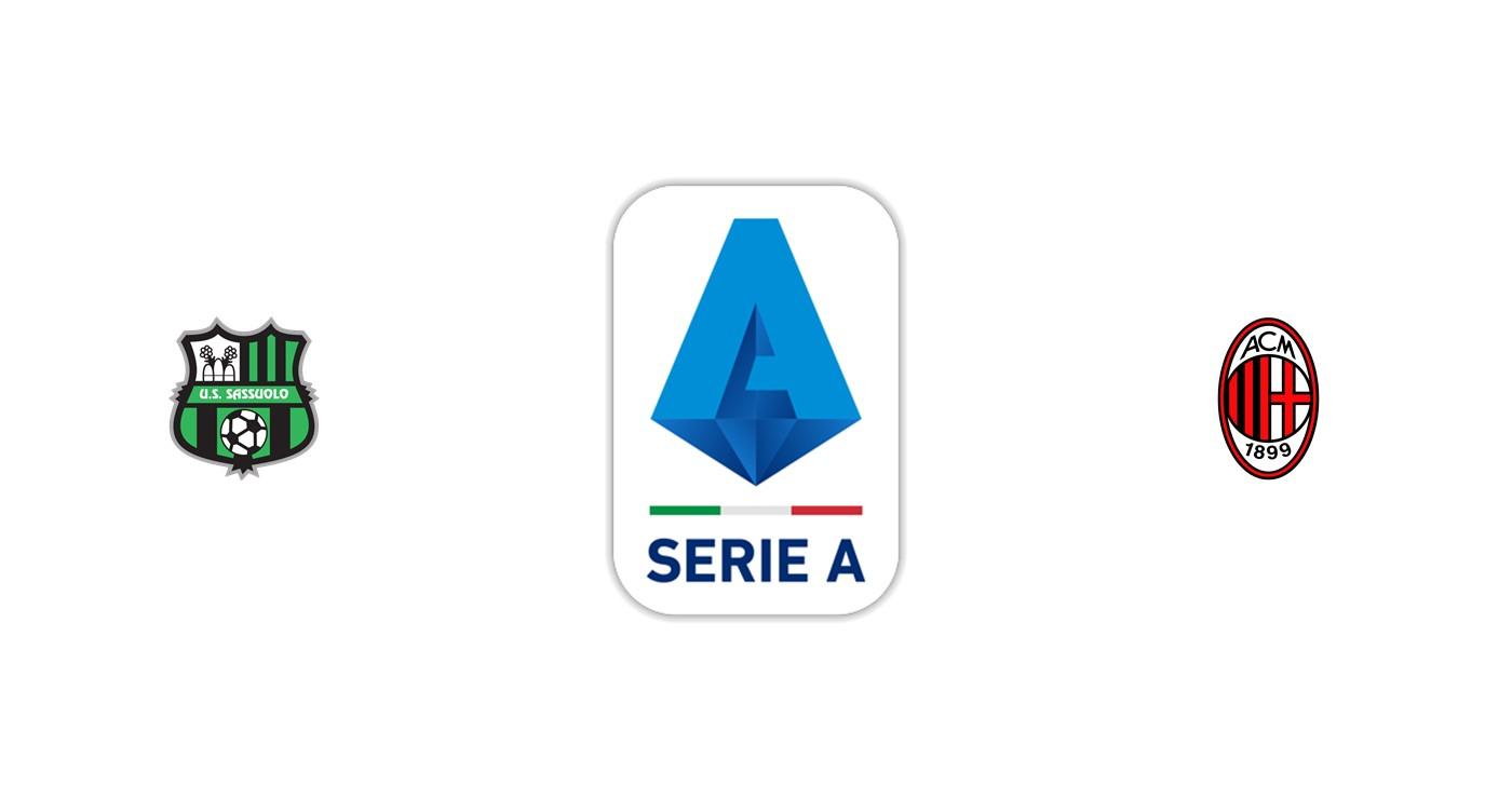 Sassuolo vs Milan Liga italiana
