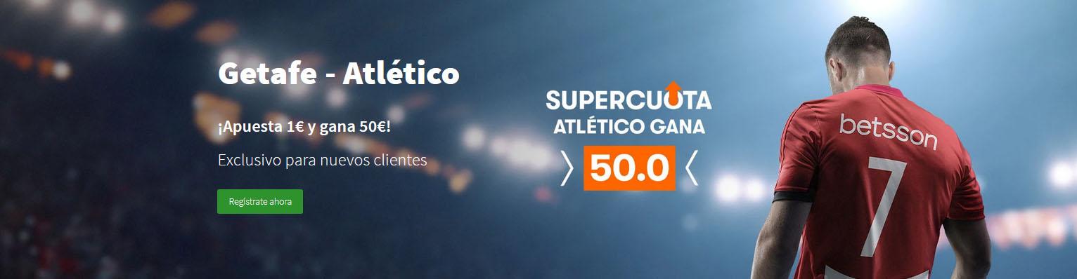 Supercuota Atlético vence a Getafe