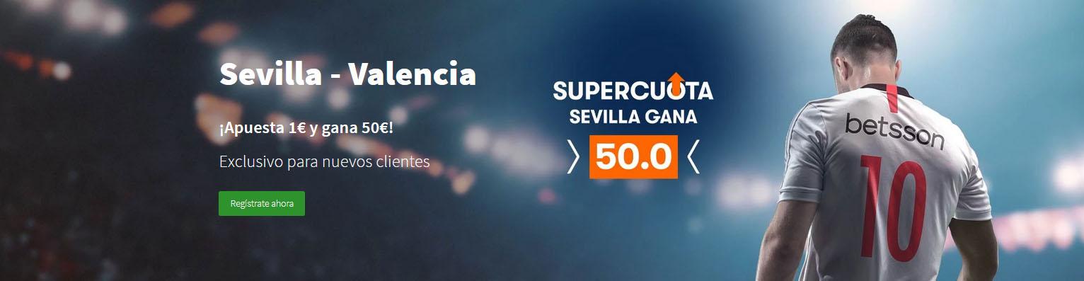 Supercuota Sevilla vence al Valencia