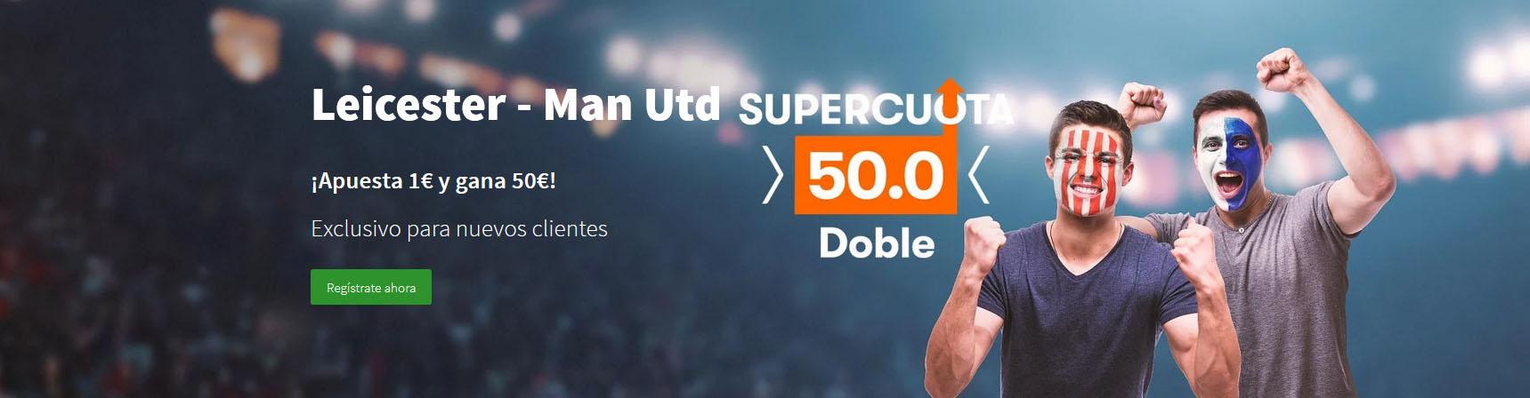 Supercuota United vence a Leicester