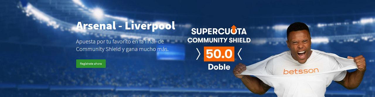 Arsenal vs Liverpool Supercuota 50