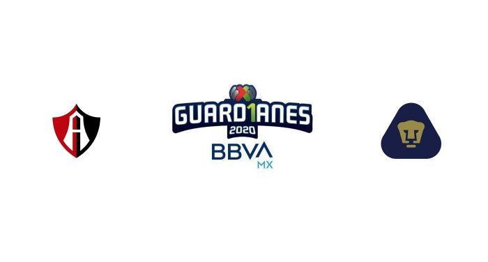 Atlas vs Pumas UNAM Previa, Predicciones y Pronóstico