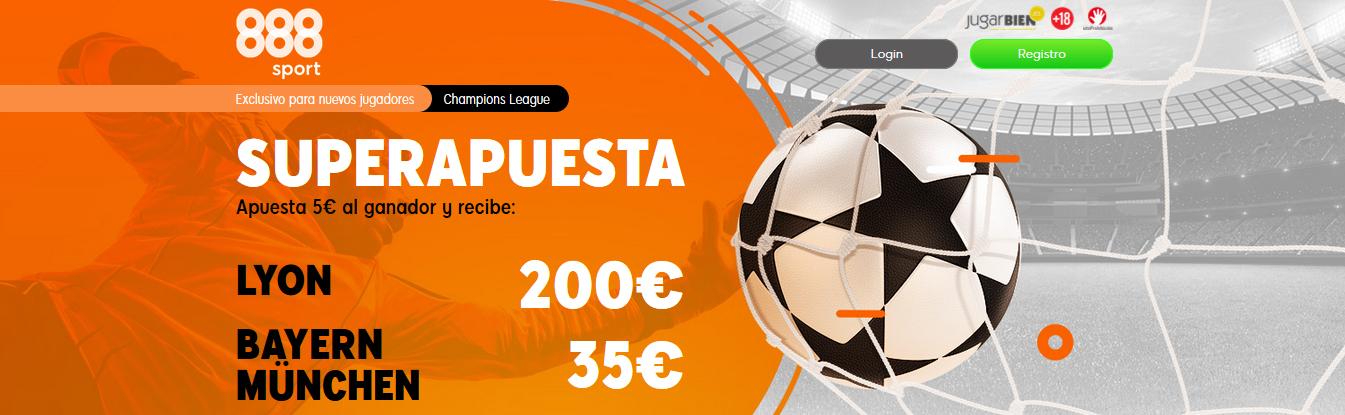 Lyon vs Bayern Múnich Supercuota 888sport