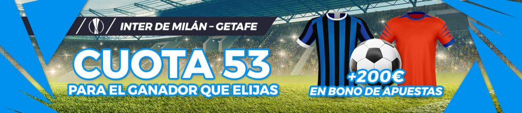 Megacuota Getafe vs Inter