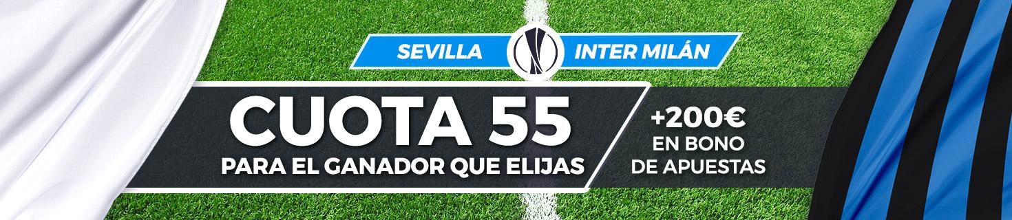 Megacuota Sevilla vs Inter Milán Final Europa League Paston