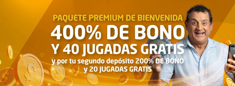 Paquete Premium Bienvenida Somoscasino