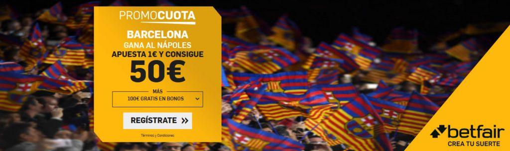 Promocuota Barcelona gana a NapoliPromocuota Barcelona gana a Napoli