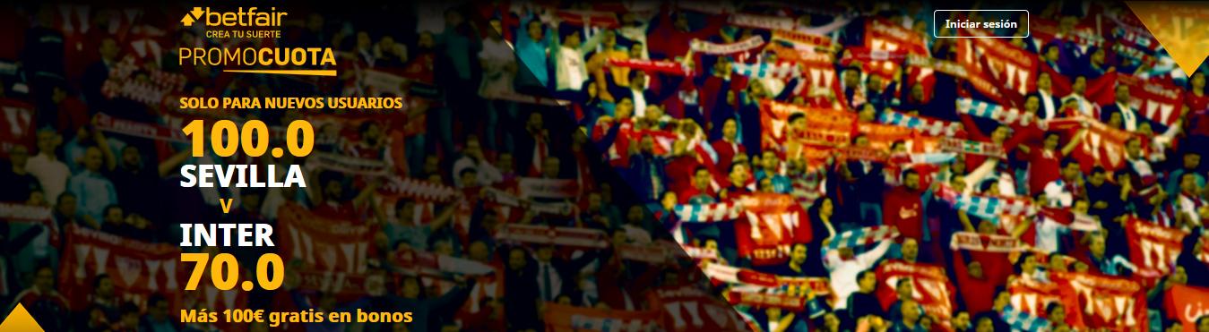 Sevilla vs Inter Milan Promocuota Betfair