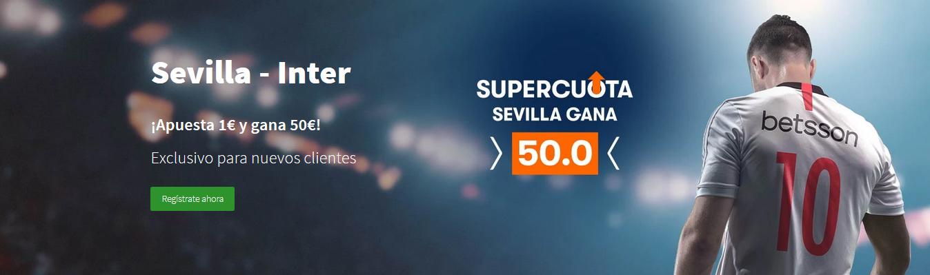 Supercuota Sevilla gana a Inter