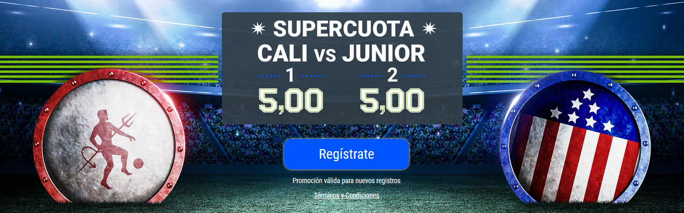 América Cali vs Junior Supercuota 5 Codere Colombia