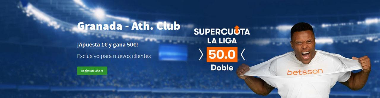 Granada vs Athletic Supercuota 50 Betsson