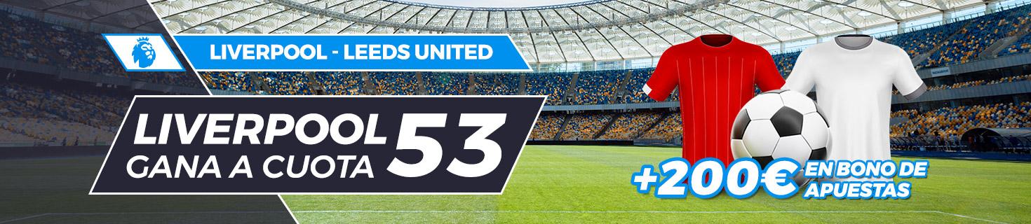 Megacuota Liverpool vence a Leeds