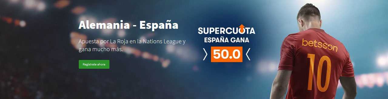 Supercuota España gana a Alemania