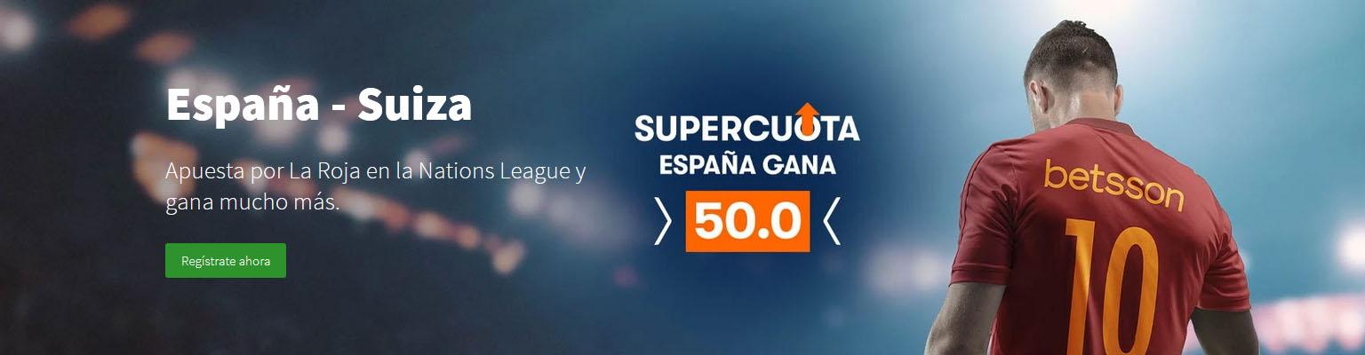 Supercuota España gana a Suiza