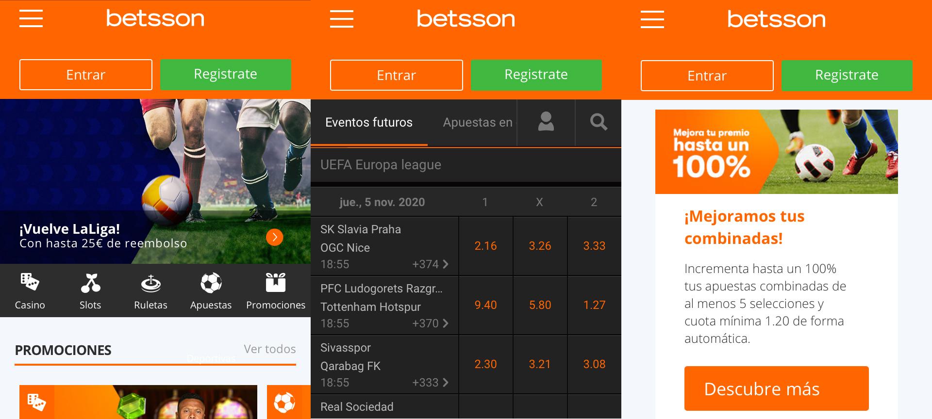 Betsson app