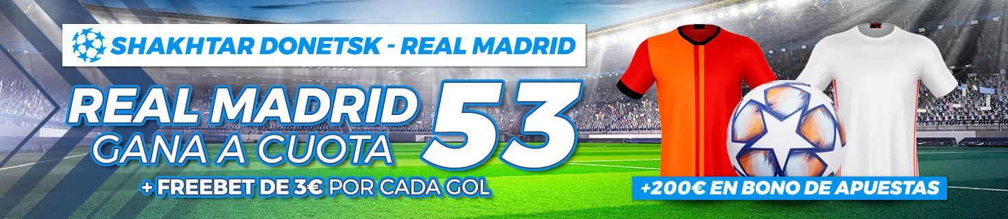 Megacuota Real Madrid gana Shakhtar