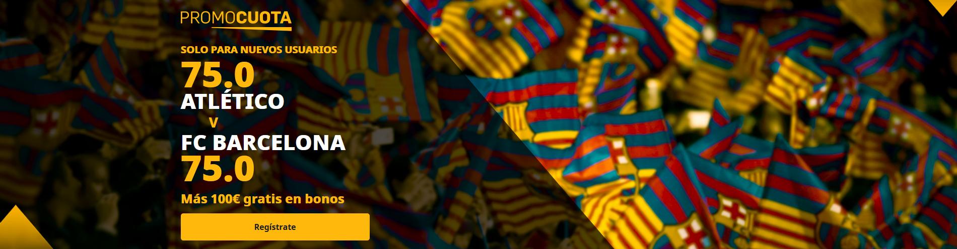 Promocuota doble Atlético vs Barcelona
