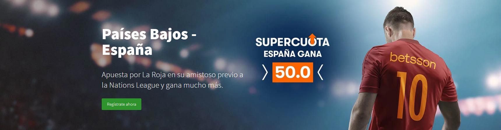 Supercuota España gana Holanda