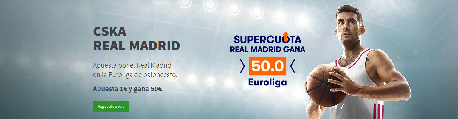 Supercuota Real Madrid gana CSKA