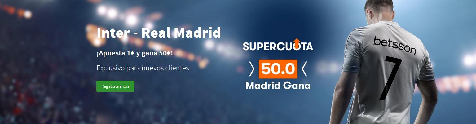 Supercuota Real Madrid gana Inter