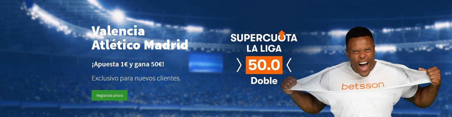 Supercuota doble Valencia vs Atlético