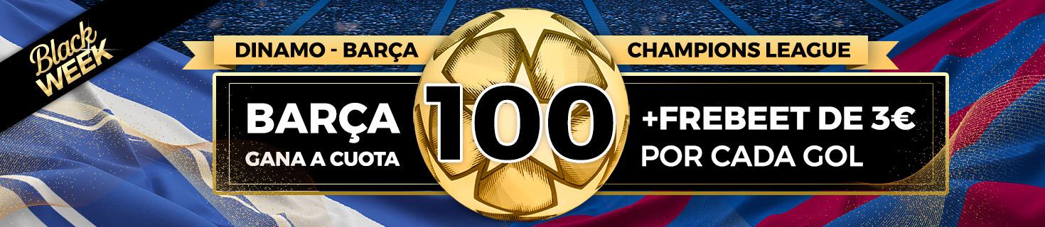 Megacuota Barca gana Dinamo Kiev