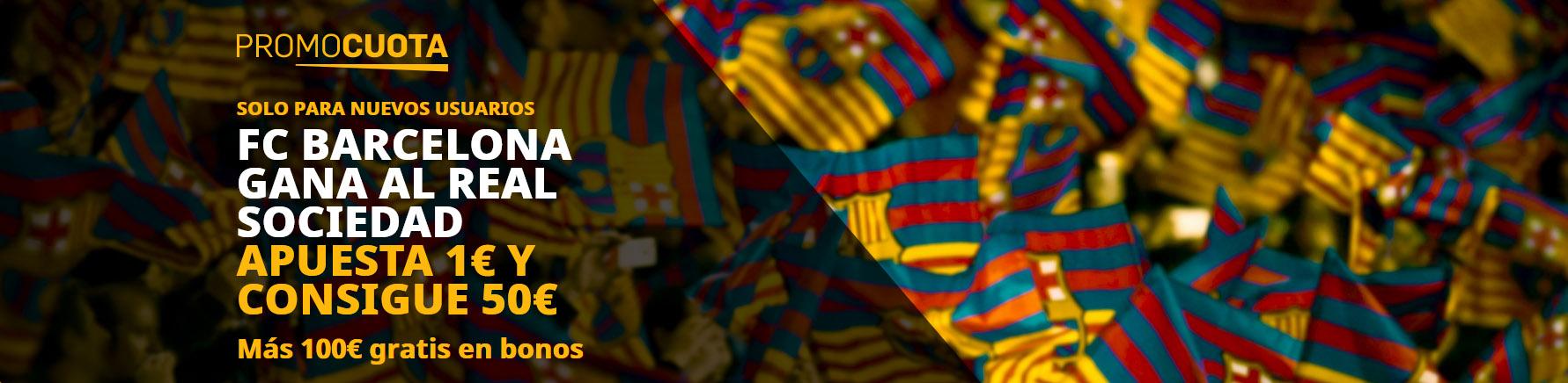 Barcelona gana Real Sociedad