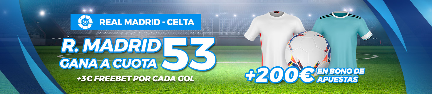 Megacuota Real Madrid gana Celta