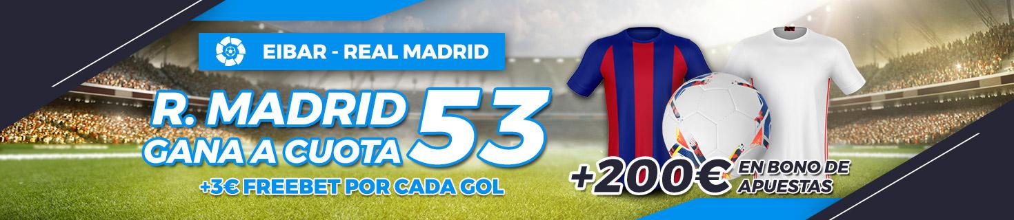 Megacuota Real Madrid gana Eibar