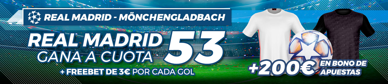 Megacuota Real Madrid vence Gladbach