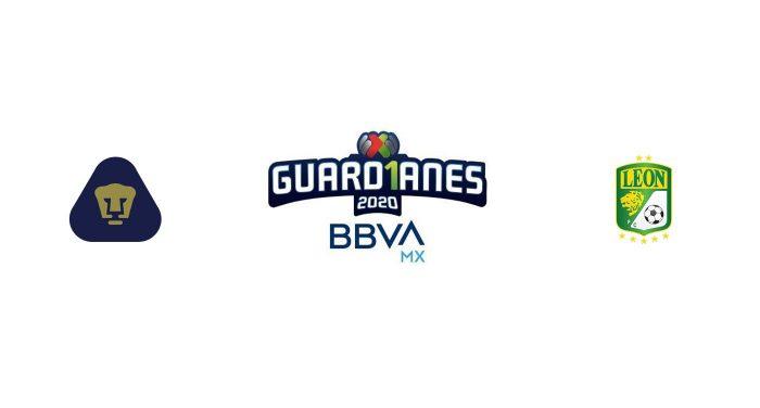 Pumas UNAM vs León Previa, Predicciones y Pronóstico