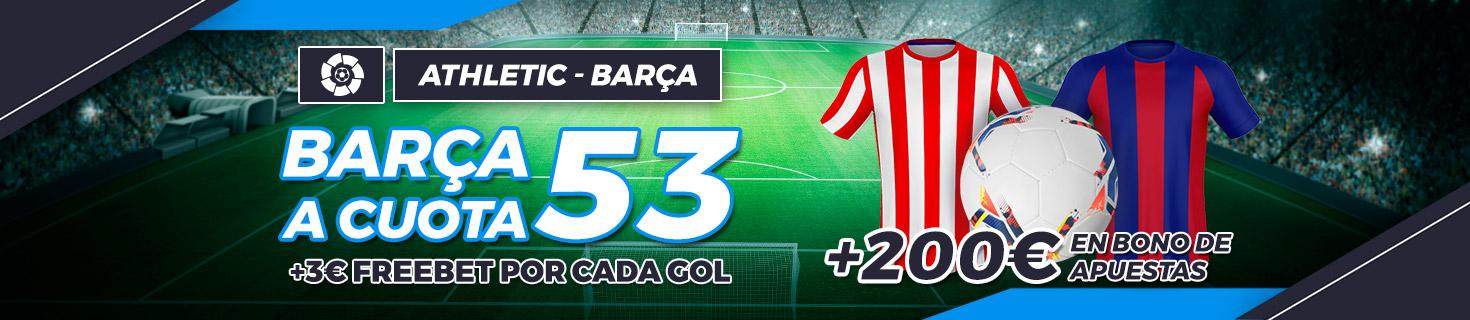 Megacuota Barcelona gana al Athletic